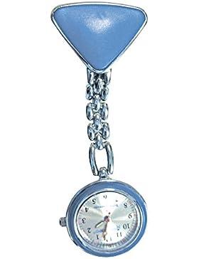 Schwestern-Uhr Blau-Silber