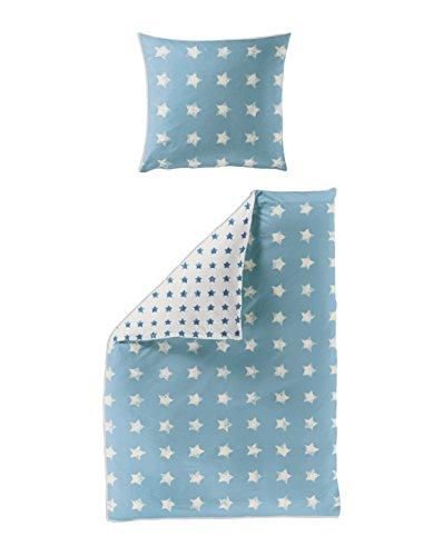 Bierbaum 6817_01 Seersucker-Bettwäsche Dessin, 135 x 200 cm und 80 x 80 cm, blau 01 thumbnail