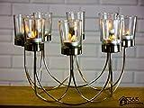 Garten Mile® Schönes Teelicht Glas Kerzenhalter Hochzeit Weihnachten Tabelle Mittelpunkt Dekoration