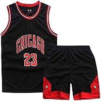 Uniforme de Baloncesto Masculino Michael Jordan # 23 Estudiantes Masculinos y Femeninos Deportes Ropa de Entrenamiento de Baloncesto (Color : Negro, Tamaño : XL)