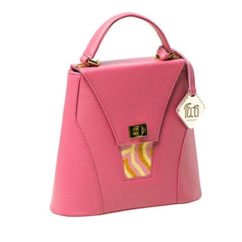 TATI Boduch borsa del progettista per le donne, mini collezione AGATE (Giallo Blu) Rosa