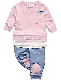 Brightup Bebé Mangas Largas Camiseta Camiseta De Algodón y Pantalones Para Niños ...
