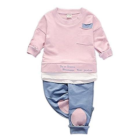 ESHOO Baby Jungen Mädchen Frühling Herbst Kleidung Set Langarm Shirt Tops und Hosen