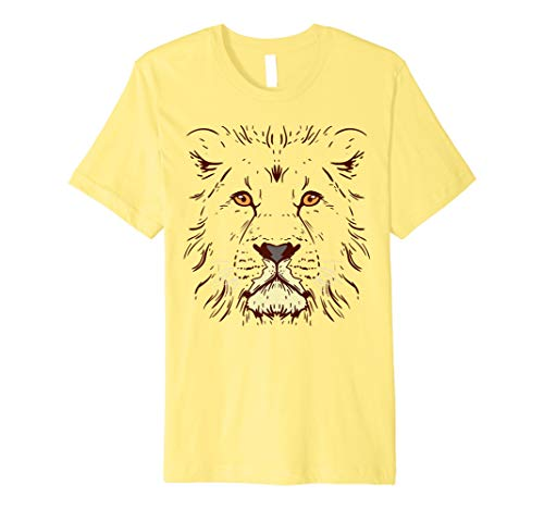 Halloween Lion Face Shirt Lazy Easy Costume Animal Lover