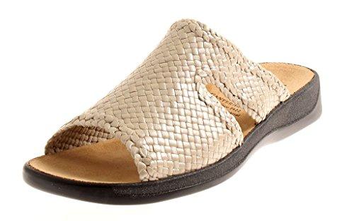 Ganter lederpantolette Scarpe di Cuoio Pantofole Zoccoli Ciabatte Monica Beige Beige