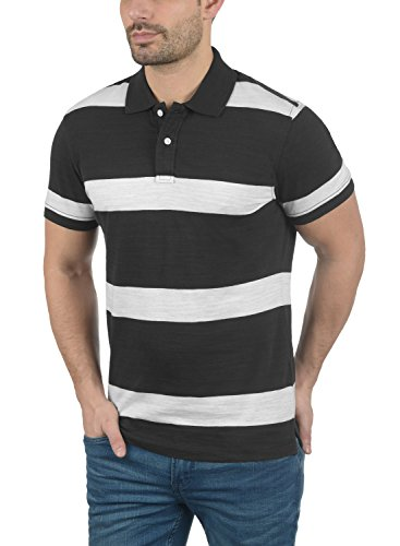 Blend Fritz Herren Poloshirt Kurzarm Shirt mit Polokragen Aus 100% Baumwolle Black (70155)