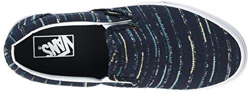 Vans - Classic Slip-on, Scarpe da Ginnastica Basse Unisex da Adulto Nero (Italian Weave black/multi)