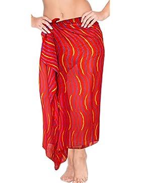 *La Leela* Envolver Resortwear Encubrir Pareo Falda Pareo Las Mujeres Ropa de Playa Traje de baño Traje de baño