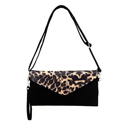 Jieway - Borsetta senza manici donna leopardo
