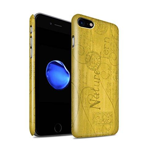 STUFF4 Glanz Snap-On Hülle / Case für Apple iPhone 8 / Orange / Blau Muster / Muster Natur Kollektion Gelb