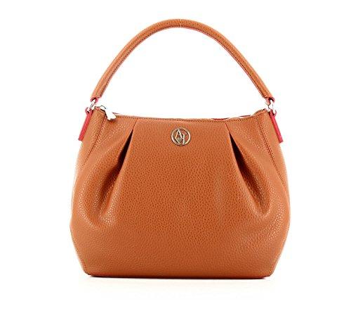 Armani Jeans shoulder bag woman PVC/Plastic Cognac/Tango Red