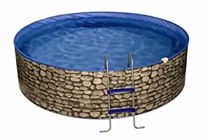 Splash Stone Komplettset 3,50m x 0,90m inkl. Kartuschenfilteranlage/Leiter