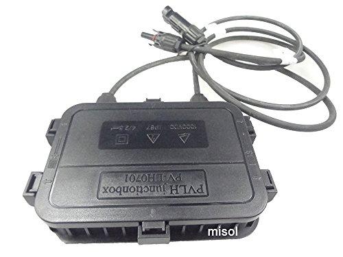 MISOL 1pcs junction box with MC4 connector+ cable, suitable for solar panel 200w to 300w, solar junction box, pv junction box/Boîte de jonction avec connecteur MC4 + câble, adapté pour panneau solaire 200w à 300w, boîte de jonction solaire, boîte de jonction pv