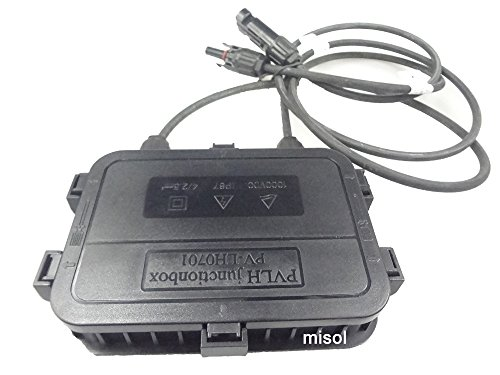 MISOL 1pcs junction box with MC4 connector+ cable, suitable for solar panel 200w to 300w, solar junction box, pv junction box/Anschlussdose mit MC4 Stecker + Kabel, geeignet für Solarpanel 200W bis 300W, Solar-Anschlussdose, pv Anschlussdose
