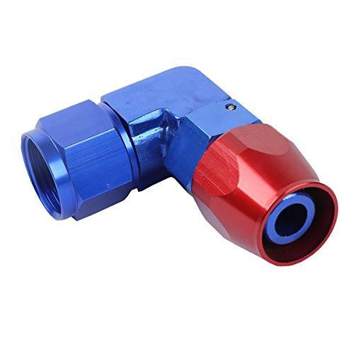TengChang Mini 90 gradi Alluminio Tubo di fine montaggio olio combustibile adattatore universale (AN-12)