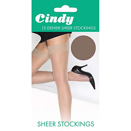 Cindy Damen Strümpfe, 15 Denier (One Size) (Paloma Mink) -