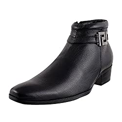 Mochi Men Black Mocassin Boots