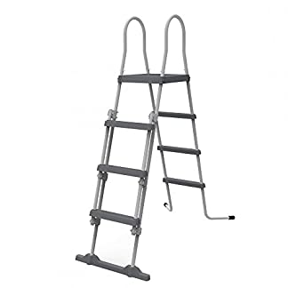 JILONG – 29R150 – Escalera con Dispositivo de Seguridad, 122 cm, Gris