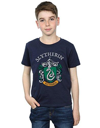 Harry Potter Jungen Slytherin Crest T-Shirt Navy Blau 12-13 Years