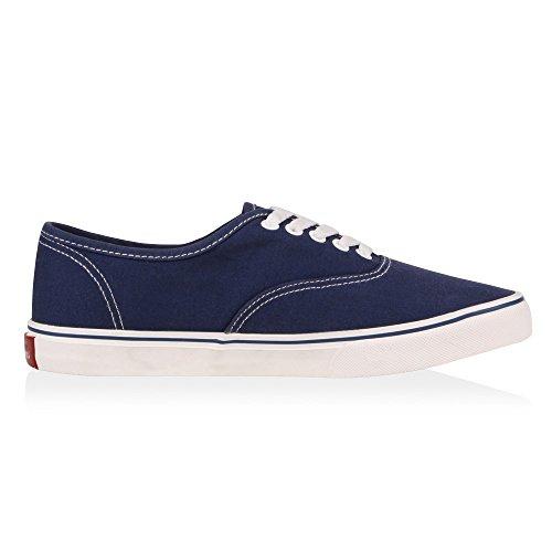 Herren Sneakers Slip-Ons | Sportliche Schnürer | Slipper Flats Sneaker | Stoffschuhe Blue