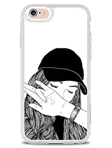 iPhone 6S Plus Back Cover - Follow My Dab - Dabbing Girl - So Girly - 2D Glossy Premium Soft TPU Case