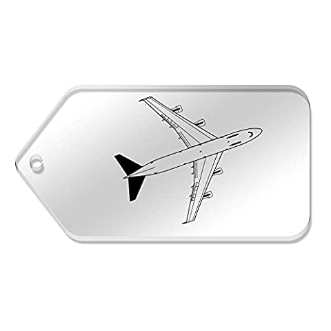 10 x Large 'Jumbo Jet' Clear Gift / Luggage Tags (TG00023960)