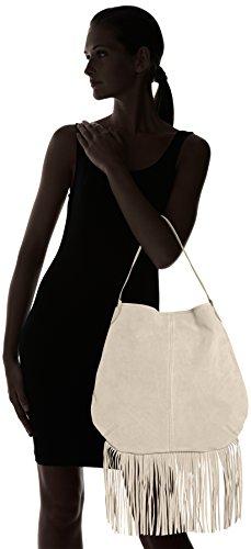 PIECESPCTABATHA SUEDE OBO BAG - Borse a Tracolla Donna Grigio (Grau (Elephant Skin))