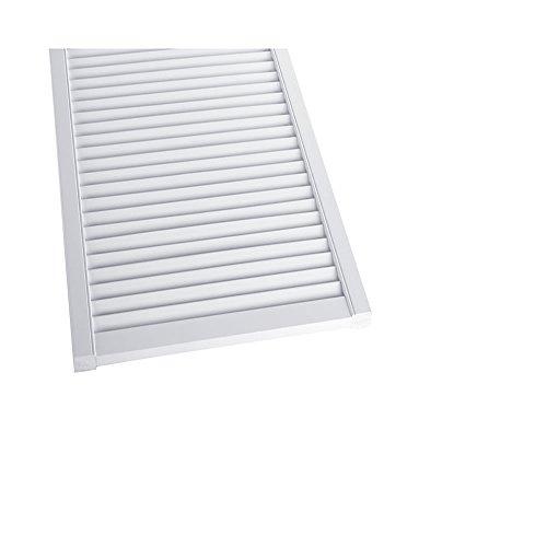 Preisvergleich Produktbild Offene Lamellentür Schranktür Heizkörperverkleidung Kiefer weiß lackiert 395 x 394 x 21 mm