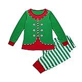 VJGOAL Familienanzug, Herren Damen Mädchen Jungen Baby Fröhliche Weihnachten Streifen Print Trainingsanzug Familie Passende Langarmshirts Kleidung + Hosen Outfits Geschenke (Mutter, 34)