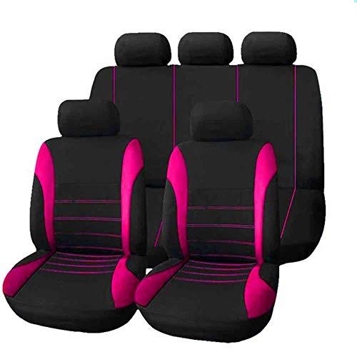GLITZFAS 9ser Sitzbezüge Auto Universal Autositzbezüge Schonbezüge sitzauflagen Auto Sitzauflagen Sitzschutz Elegance (Pink)