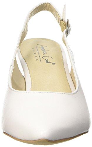 Andrea Conti1009375 - Scarpe con Tacco Donna Bianco (Weiß (weiß 001))