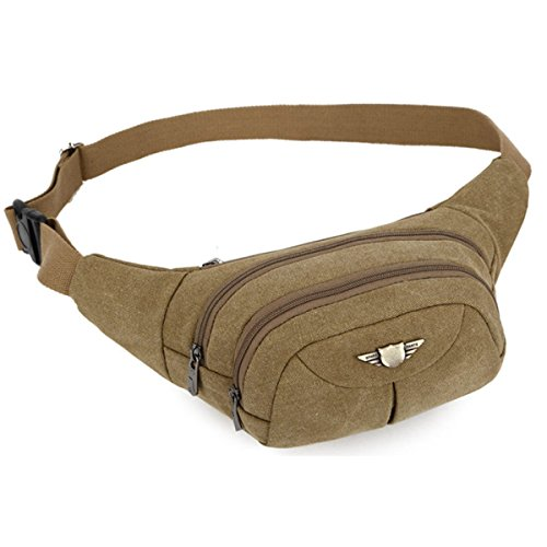 Männer Canvas Casual Bag Große Kapazität Mode Taschen,Brown Khaki