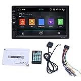 Tragbarer CD- / DVD-Player mit 7 Zoll, Bluetooth Wi-Fi 1024 * 600 HD-kapazitivem Auto-DVD-MP3-Player mit eingebauter europäischer Karte für Multimedia-Unterhaltung