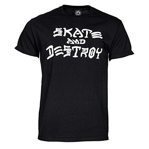 Herren T-Shirt Thrasher Skate And Destroy T-Shirt Schwarz