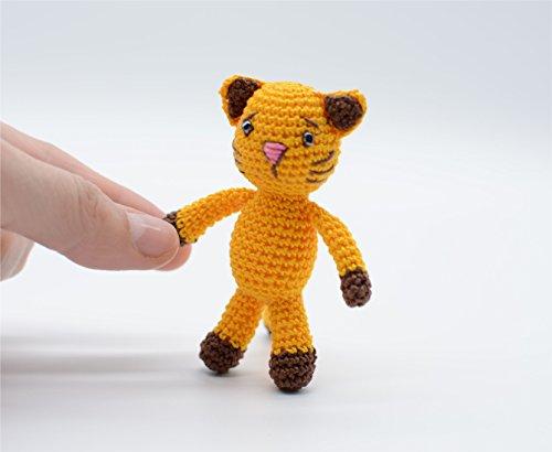Gelbe Katze Spielzeug, liebevolle Kitty, häkeln Amigurumi Schlüsselanhänger, das richtige Geschenk -