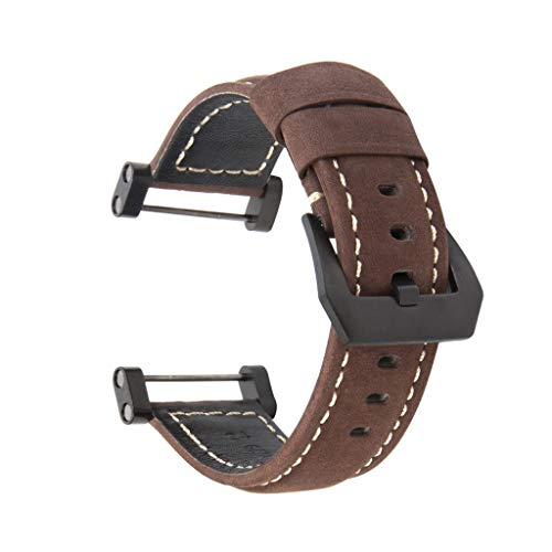 Wokee Leder Ersatz Uhren Uhrenarmband mit Beinhaltet Adapter und Werkzeuge für Suunto Core (F) (22mm Aluminium-uhrenarmband)