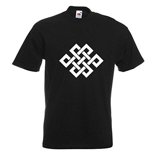 KIWISTAR - Buddhistischer Knoten T-Shirt in 15 verschiedenen Farben - Herren  Funshirt bedruckt Design