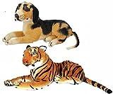 #9: Play N Joy Stuff Tiger & dog Combo soft toy - 32 cm (Brown)