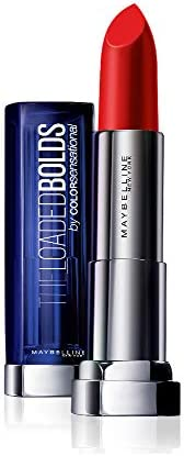 Maybelline New York Color Sensational Loaded Bold Lipstick,07 Dynamite Red, 3.9g