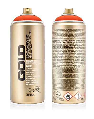 Montana Cans 283826 Montana Spray Dose Gold 400ml-FLUORESCENT Colors, Gld400-f2000-Power Orange