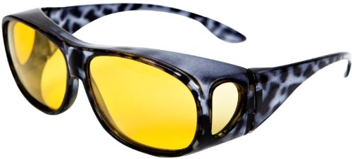 OPTICAID NIGHT SIGHT POLARISED NIGHT DRIVING OVER GLASSES, DESIGNED TO BE WORN OVER PRESCRIPTION EYEWEAR BY OPTICAID