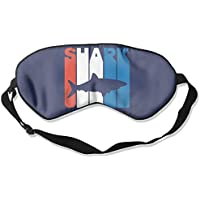 Retro Shark Silhouette 99% Eyeshade Blinders Sleeping Eye Patch Eye Mask Blindfold for Travel Insomnia Meditation preisvergleich bei billige-tabletten.eu