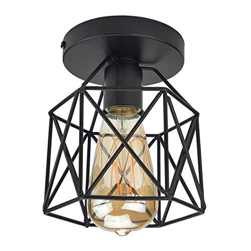 Luces de techo de montaje semi-empotrado E26 / 27 Edison Bulb Industrial...