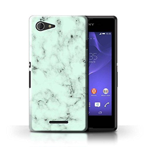 Stuff4® Hülle/Case für Sony Xperia E3 / Grün Muster/Marmor Granit Bewirken Kollektion (Grün Case Sony E3 Xperia)