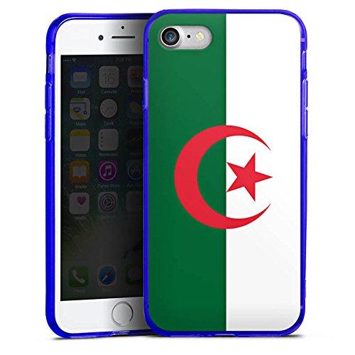 Apple iPhone 7 Silikon Hülle Case Schutzhülle Algerien Flagge Fußball Silikon Colour Case blau