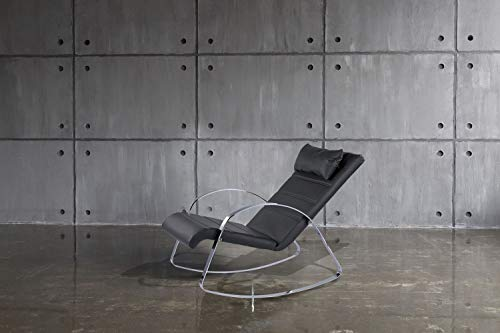 One Couture Wohnzimmer Sessel RELAXLIEGE SCHAUKELSESSEL FERNSEHSESSEL RELAXSESSEL GRAU