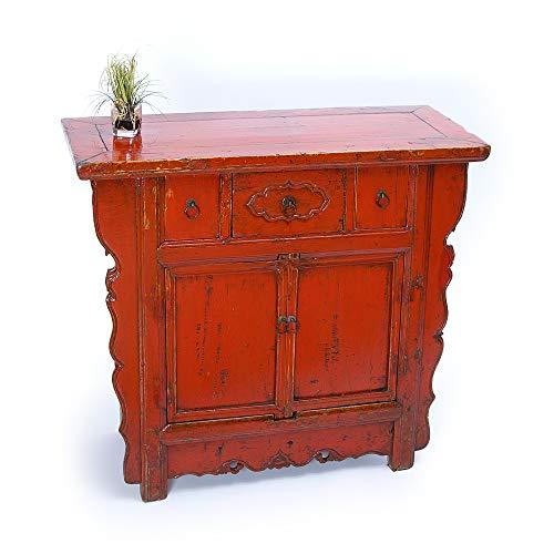 Antikes chinesisches Sideboard rot Hochzeitsschrank China chinesisches antik
