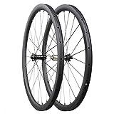 Carbon Cyclocross Fahrrad Scheiben Brems Räder 35mm Drahtreifen Tubeless bereit mit Straight Pull Nabe und Sapim Speichen 12x100mm/12x142mm Shimano 10/11 Geschwindigkeit nur 1428g