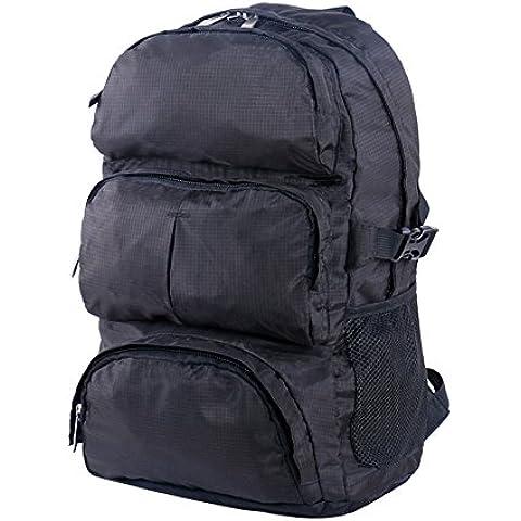 Wonderfully Mochila impermeable al aire libre deporte senderismo Trekking camping viajes extra grandes bolsas alpinismo escalada mochila con lluvia cubierta (negro)