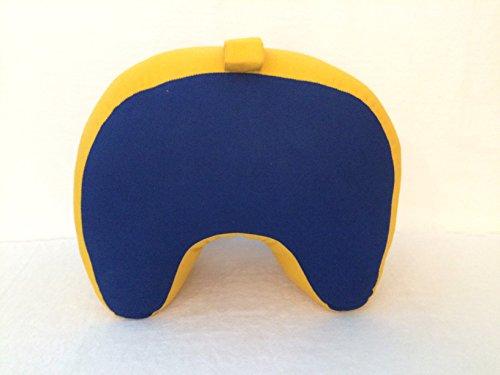 Tortue De Jade - Zafu Demi lune bleu et jaune